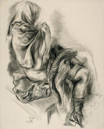 George Grosz Draped Figure