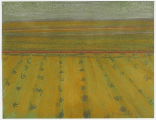 Richard Artschwager Golden Landscape