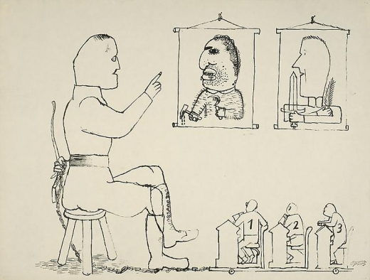 George Grosz A Lesson for Generations to Come