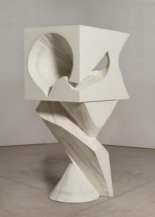 Mel Kendrick White Block/Spiral