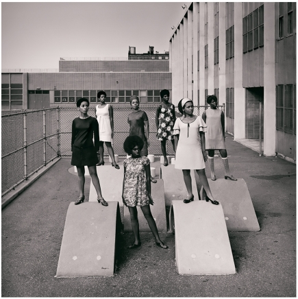 Kwame Brathwaite, Untitled (Photo shoot at a school for one of the many modeling groups
