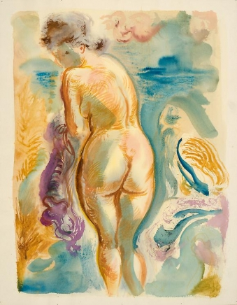 George Grosz Female Nude in the Dunes of Cape Cod