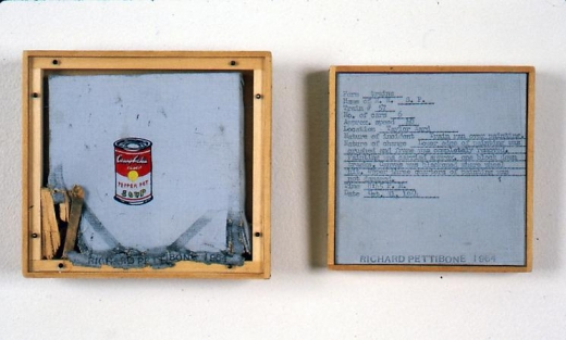 "Richard Pettibone ""Untitled (Train ran over painting, Oct. 13, 1964)"" [Diptych]  (Andy Warhol ""Pepper Pot. 1962"" 1964)"