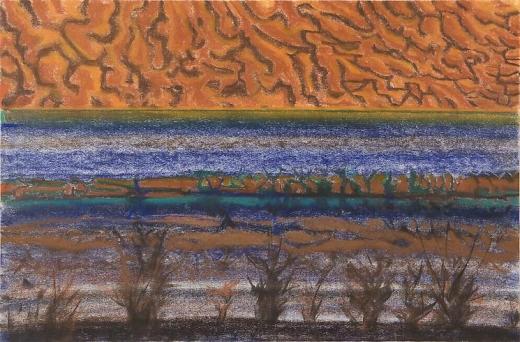 Richard Artschwager Horizon with Orange Sky