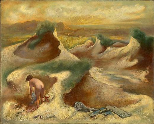 George Grosz Nude in Dunes