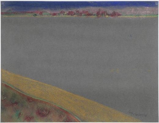 Richard Artschwager Landscape on Gray Paper