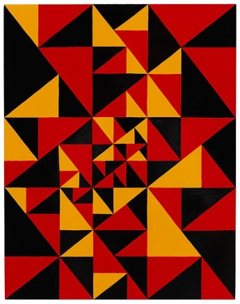 James Siena Untitled (First Triangle Painting)