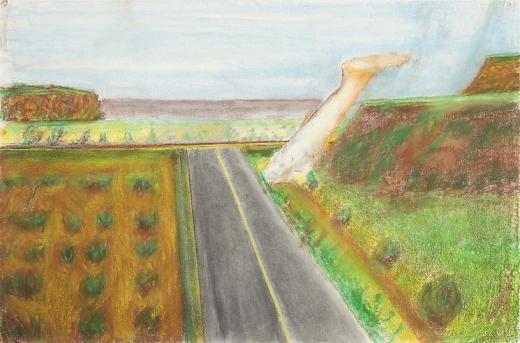 Richard Artschwager Landscape with Leg