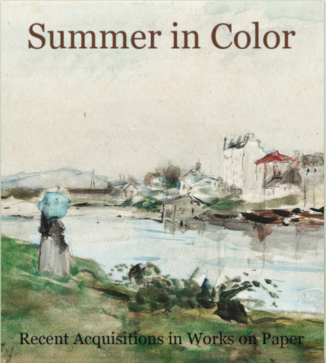 Catalogue Cover: Summer in Color, Recent Acquisitions in Works on Paper, August 2016