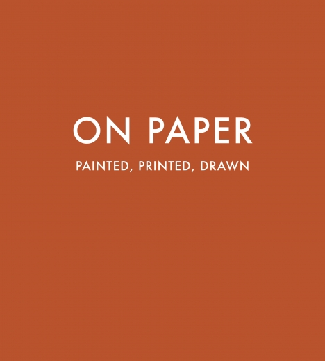 Catalogue Cover: On Paper: Painted, Printed, Drawn, September 2010