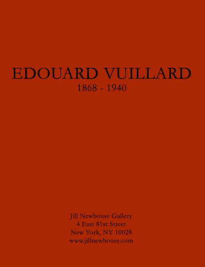 Catalogue Cover: Edouard Vuillard 1868-1940, January 2015
