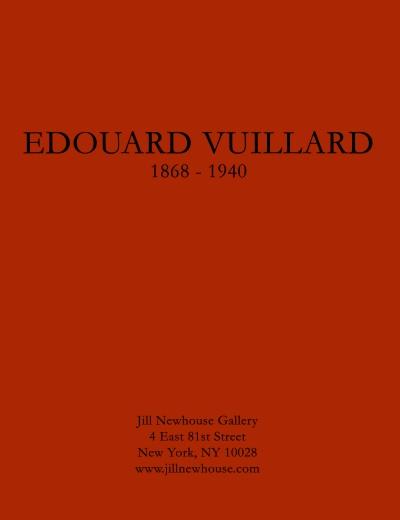 Catalogue Cover: Edouard Vuillard 1868-1940, January 2015