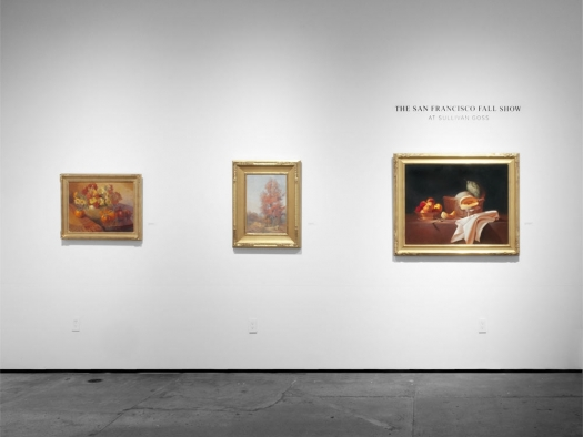 Installation photograph of The San Francisco Fall Show at Sullivan Goss, 2021, Meredith Brooks Abbott, Leon Dabo, Martha Mayer Erlebacher