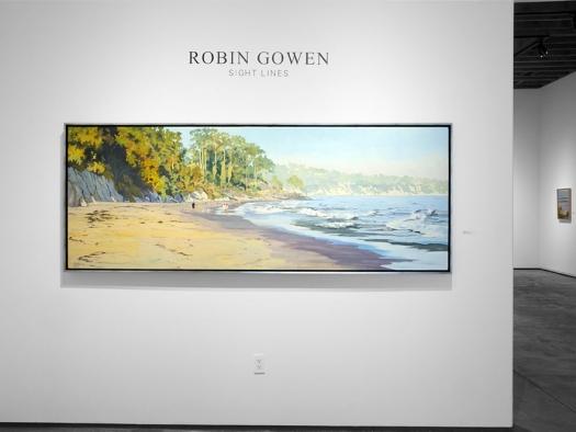 Installation photograph of ROBIN GOWEN: Sight Lines, Walking on Goleta Beach, 2021