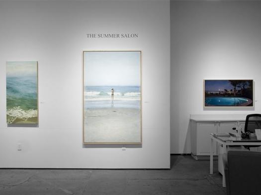 Installation photograph of The Summer Salon, 2021, Nicole Strasburg, John Nava, Patricia Chidlaw