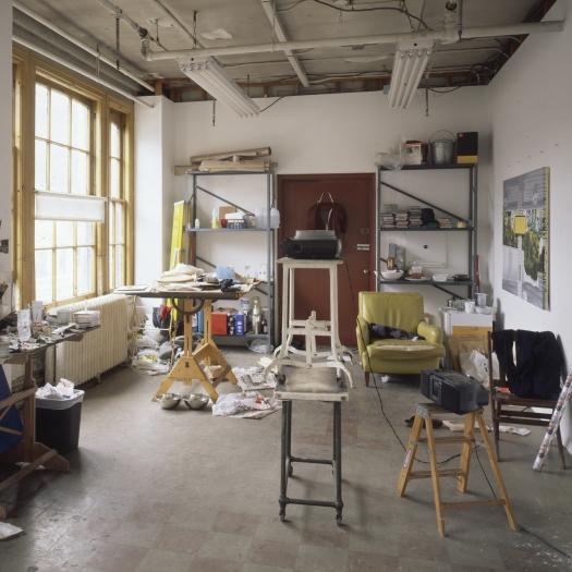 Photographs of his studio