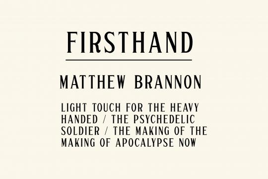 Firsthand: Matthew Brannon