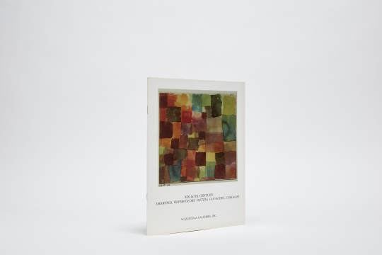 XIX & XX Century Drawings, Watercolors, Pastels, Gouaches, Collages Catalogue Color
