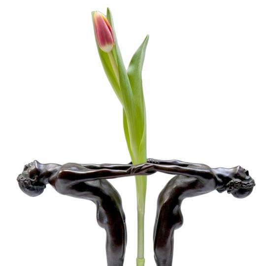 Figural Flower Holder