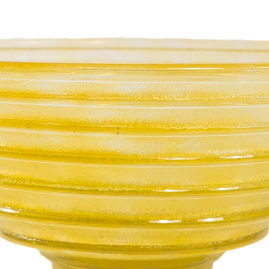 Art Deco Yellow Glass Center Bowl