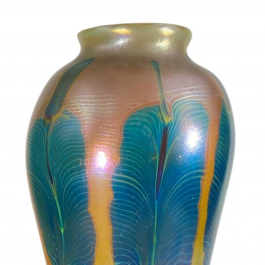 Monumental Peacock Vase