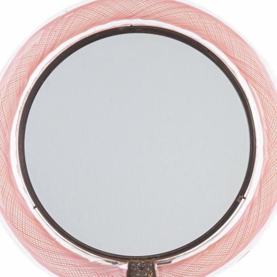 Pink Mezza Filigrana Vanity Mirror