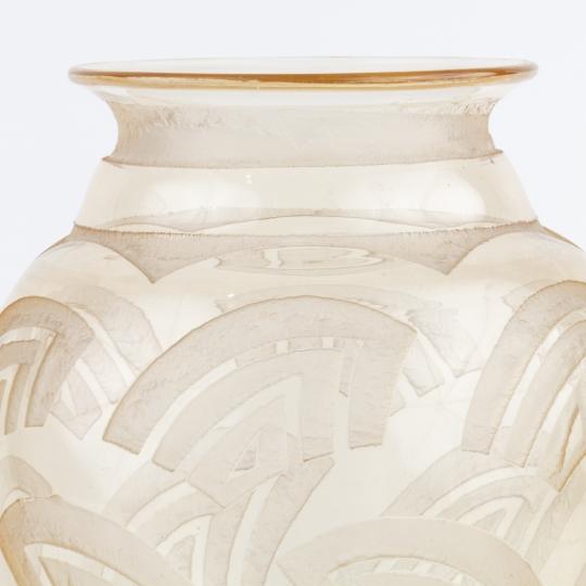 Clear Art Deco Glass Vase