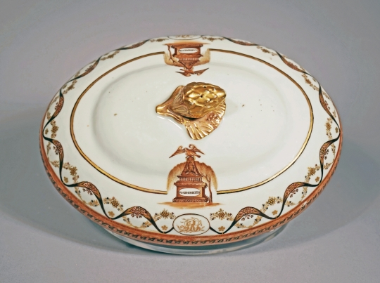 Chinese Export Porcelain Washington Memorial Cover for a Platter