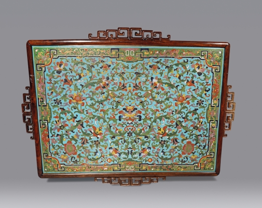 Unusual Chinese Cloisonne Framed Panel