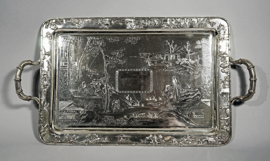 Fine Chinese Export Silver Tray