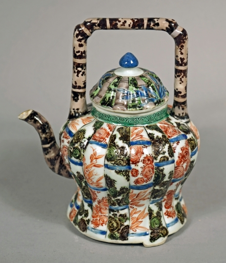 Chinese Glazed Biscuit Porcelain Teapot