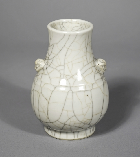 Chinese Geyao Glazed Ovoid Jar