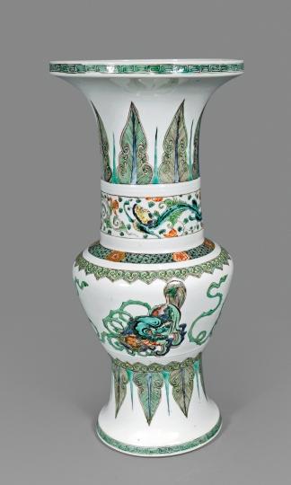 Rare Chinese Famille Verte Porcelain Vase