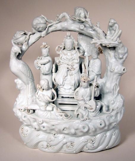 Rare Blanc de Chine Porccelain Figural Group