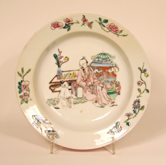 Famille Rose Ruby Back Eggshell Porcelain Dish