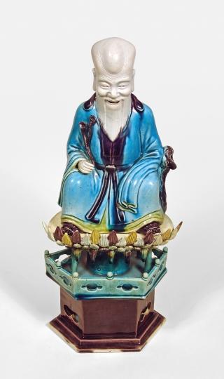 Chinese Fahua Glazed Figure of Shoulao