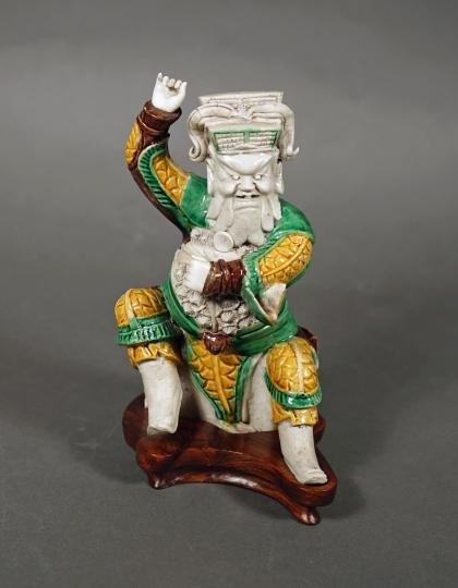 Fine Chinese Sancai Glazed Figure of Guandi