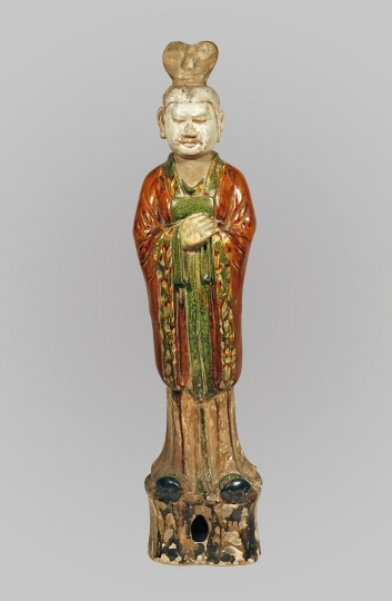 Chinese Sancai Glazed Pottery Figure of an Official
