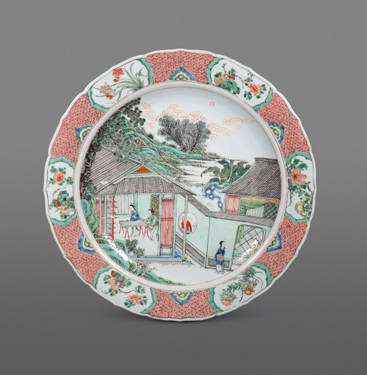 Fine and Very Rare Famille Verte Porcelain Plate