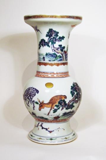 Chinese Doucai Glazed Porcelain Vase