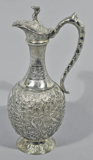 Chinese Export Silver Claret Jug
