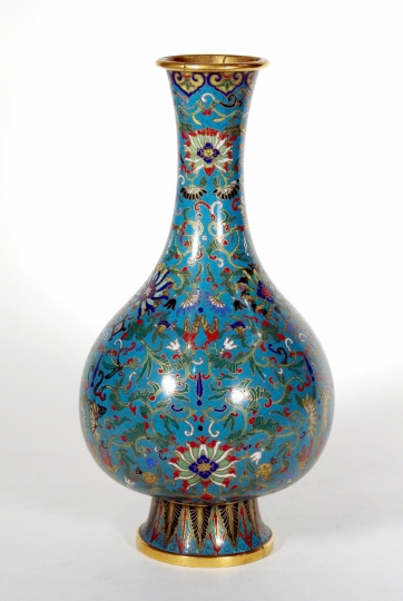 Chinese Cloissonne Bottle Shaped Vase