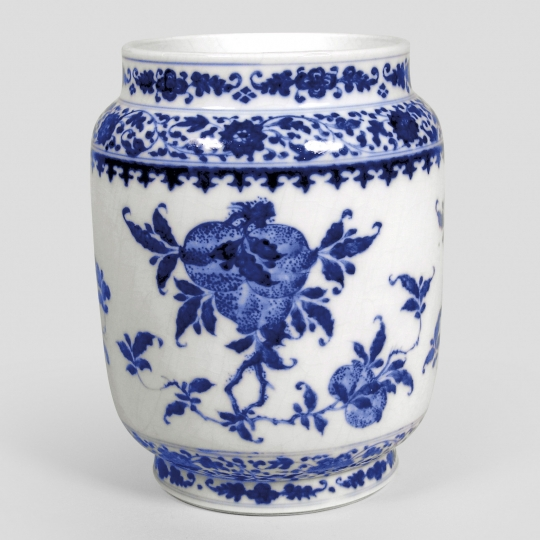 Chinese Blue and White Soft Paste Porcelain Jar
