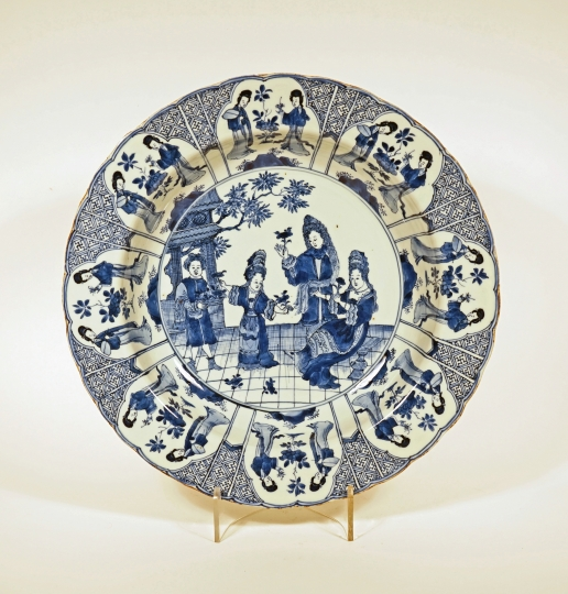Very Rare Chinese Blue and White Porcelain Deep Dish