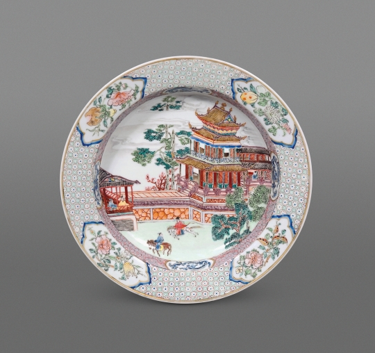 Superb Chinese Famille Rose Ruby Back Eggshell Porcelain Soup Dish