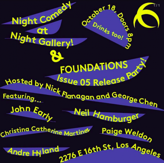 Foundations Issue 5 Launch Party / Night Comedy