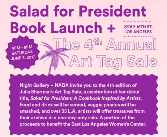 Tag Sale + Salad For President Book Launch