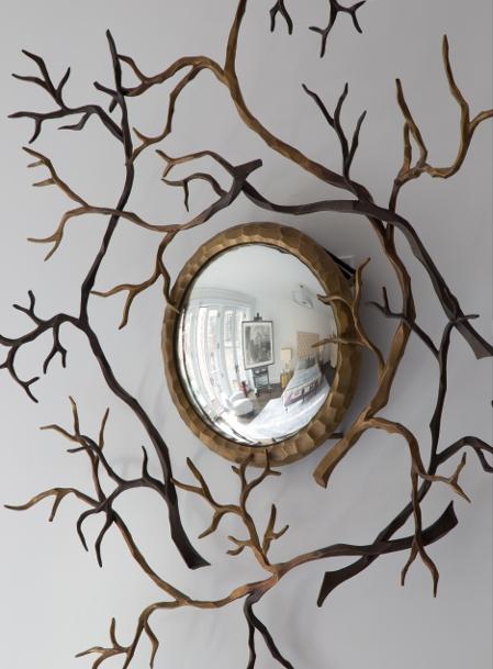Hervé Van der Straeten's Branches Bull's-Evye Mirror