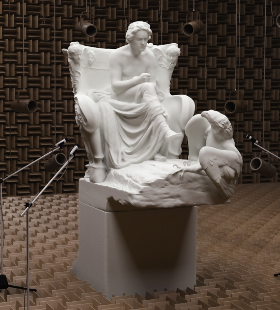 Rendering by Goran P., Beethoven, 2016 created from the sculpted scan.