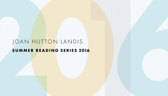 Summer Calendar 2016 - Joan Hutton Landis Reading Series
